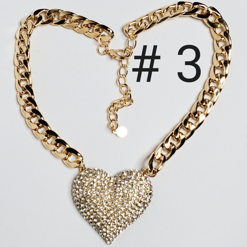 Supper cute dog neck chain gold color with red heart Frenchie color jewelry
