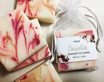 Bridal Shower Favors - From My Shower to Yours, Bridal Shower Gift for Guests, Holiday Favors, Bridal Shower Soap Favors, Baby Shower Soaps