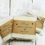 From My Shower to Yours - 3-1/2oz Organic Soap, Baby Shower Favors, Bridal Shower Favors, Wedding Favors, Vegan Soap for Guests