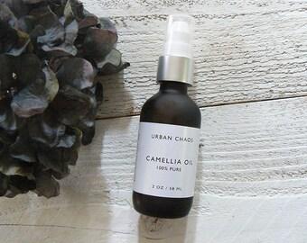 Organic Camellia Oil, Virgin Unrefined & 100% Pure - Face Moisturizer, Anti-Aging Facial Oil, Body Massage Oil - Vegan Organic Skincare