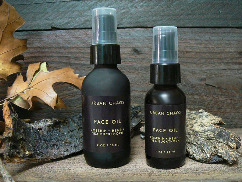 Face Oil  Organic Sea Buckthorn Oil Calendula &Hemp Oil image 0