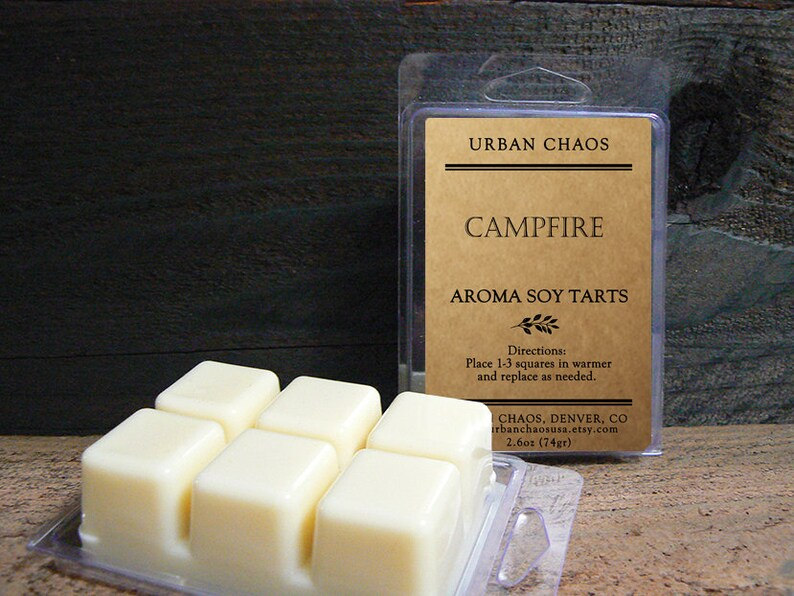 Campfire Wax Tarts  Fireplace Candle Tarts  Highly Scented image 0