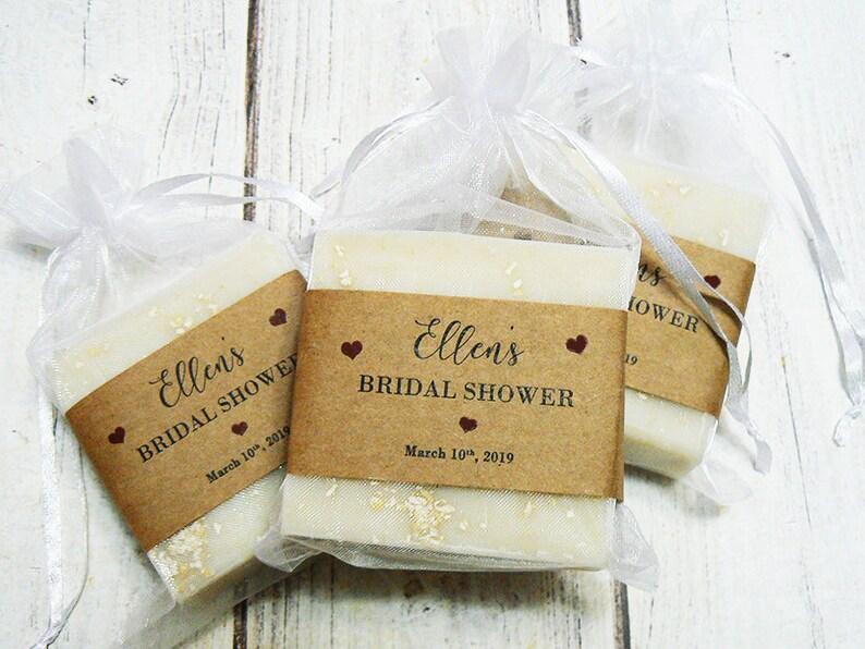 Bridal Shower Favors 3-1/2oz Organic Vegan Soap Favors image 0