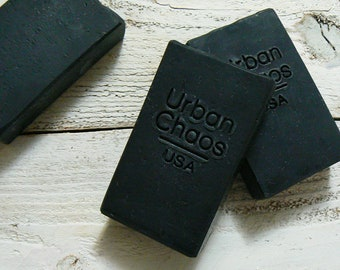 Charcoal Soap 4.5oz - Acne Face Soap, Unscented Natural Soap, Sensitive Skin Face & Body Soap, Fragrance Free Charcoal Soap