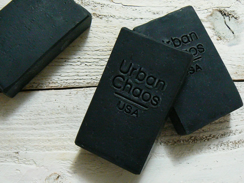 Charcoal Soap  5oz Natural Soap Acne Face Soap Unscented image 0
