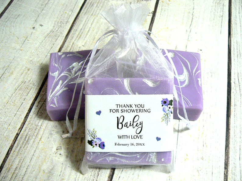 Bridal Shower Soap Favors  3.5oz Vegan Soap Wedding Shower image 0
