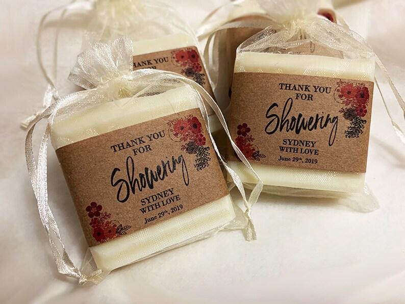 Bridal Shower Soap Favors  Vegan Wedding Soap Favors 2.5oz image 0