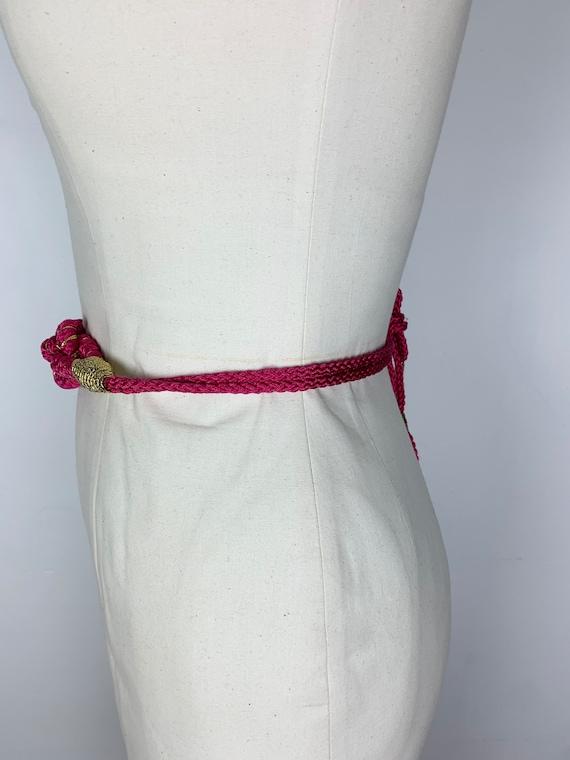 SALE- FREE SHIP Vintage 80s Belt / Hot Pink Belt … - image 6