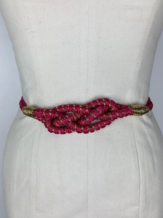 SALE- FREE SHIP Vintage 80s Belt / Hot Pink Belt … - image 4