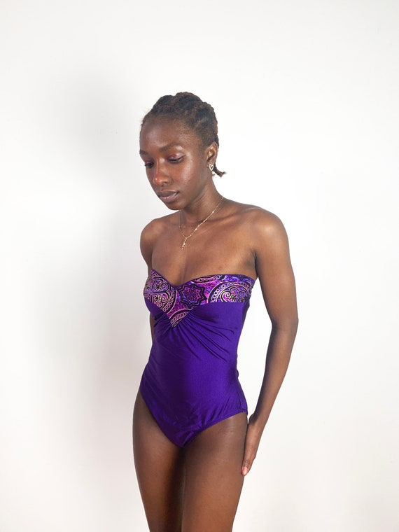 Size 16 Swimsuit 1X 80s Swimsuit Plus Size Swimsuit One Piece Swimsuit Ruched Swimsuit Floral Swimsuit Size XLarge Swimsuit XL