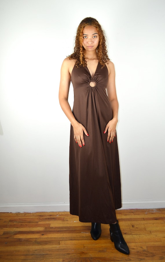 Vintage 70s Dress / Vintage 1970s Disco Dress / Vi