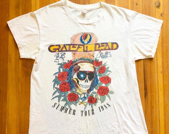 80s Grateful Dead t-shirt, The Grateful Dead 1988 Summer Tour tee, Dead Head concert tee, Single Stitch vintage shirt, 1980s Rock N Roll top