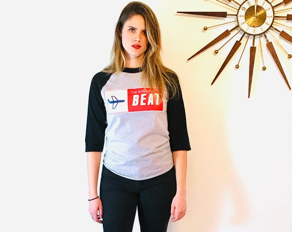 The English Beat baseball tee, Vintage Ringer Tee, Long 3/4 Sleeve top, Rock Band t-shirt, Ska Band concert tee, special delivery
