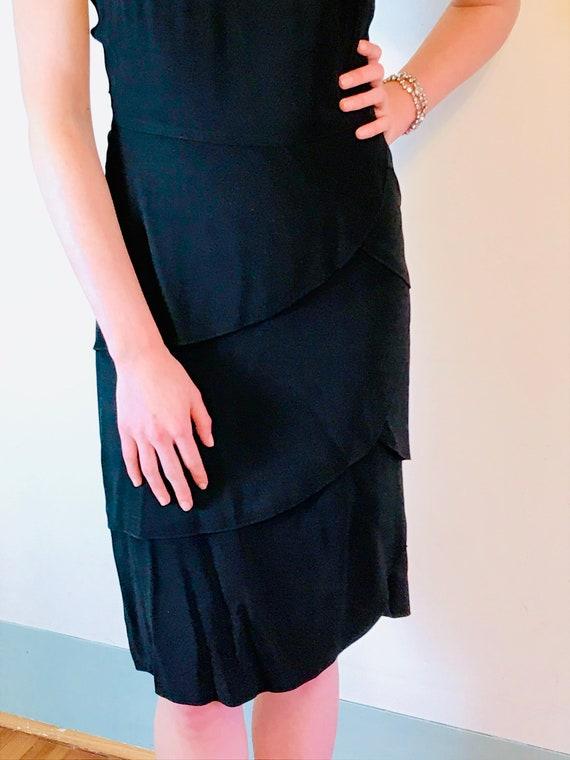 1940s Art Deco dress, Vintage 40s dress, 40s swin… - image 4