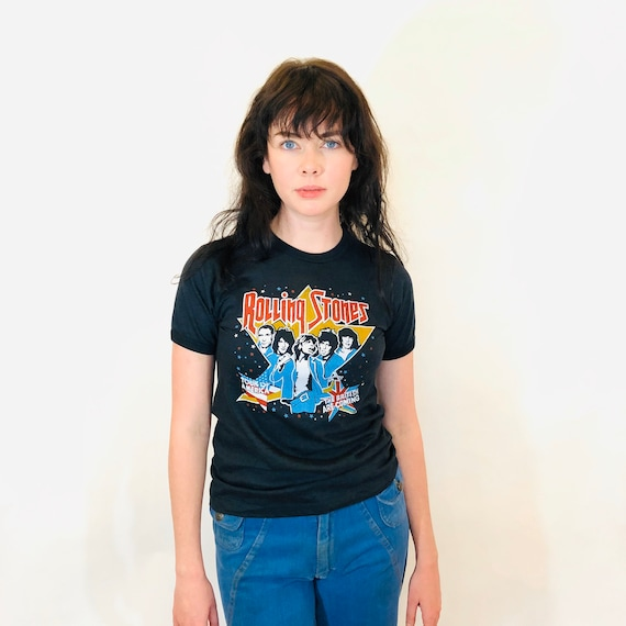 Rare Vintage The Rolling Stones 1978 Tour of America t-shirt, Tongue and Lip Logo, 1970s Rock n Roll band tee, Single Stitch 70s Concert tee