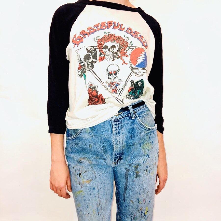 Vintage 70s The Who Shirt Rock Concert Music Shirt Raglan Jersey tee t shirt