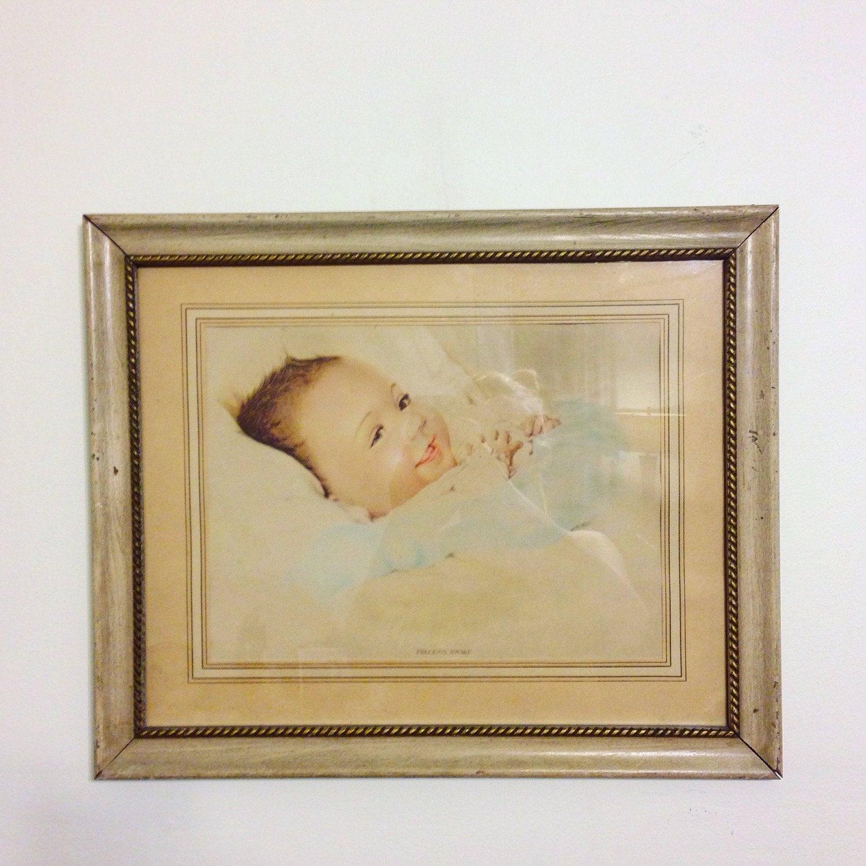 Retro Nursery Decor, Vintage 40s Print, Framed Baby Print, PRECIOUS ...
