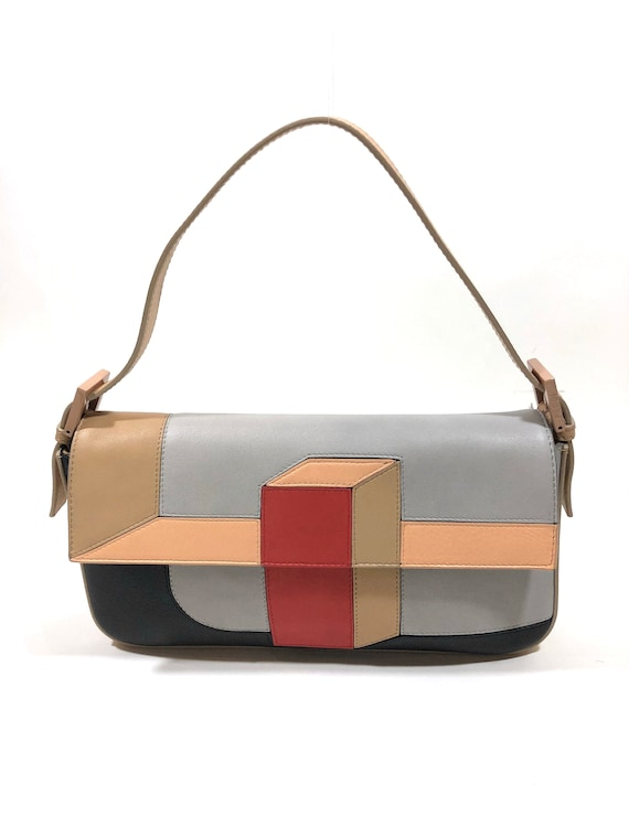 Fendi Limited Edition Baguette Mania Collection, 3D Colorblock Baguette Bag, Fendi Baguette Purse, Authentic Fendi Handbag, Designer Purse