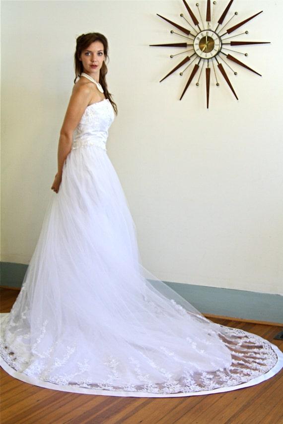 Vintage wedding gown, Strapless wedding dress, Ci… - image 4