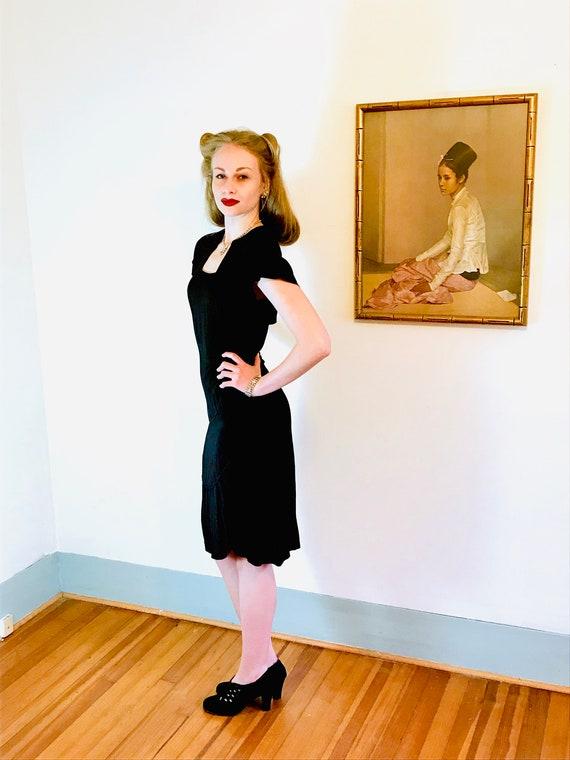 1940s Art Deco dress, Vintage 40s dress, 40s swin… - image 9