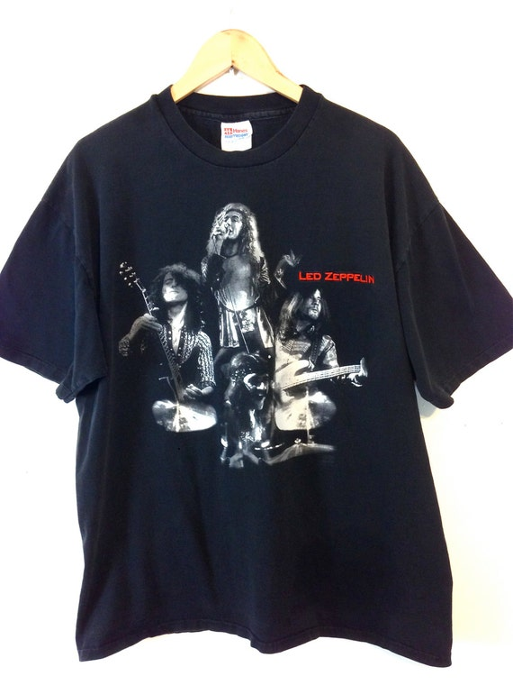 LED ZEPPELIN Tee, Band t-shirt, Vintage t-shirt, Black cotton tee, 90s t-shirt, Rock Band tee, Unisex t-shirt, Mens XL, Womens 2XL Plus Size