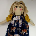 Custom for MrsM, Plastic Bag Holder Doll, African Animals Theme