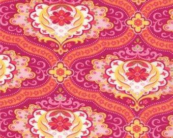 Plum Pink Floral Damask Cotton Fabric - High Street Fabric - 1 Yard or more- SKU# 11471 26 - Lily Ashbury - Moda Fabrics