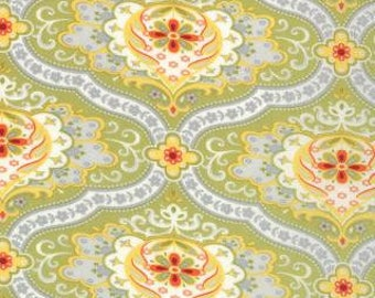 Sage Green Damask Cotton Fabric, High Street Damask - 1 Yard - SKU# 11471 25 - Lily Ashbury - Moda Fabrics