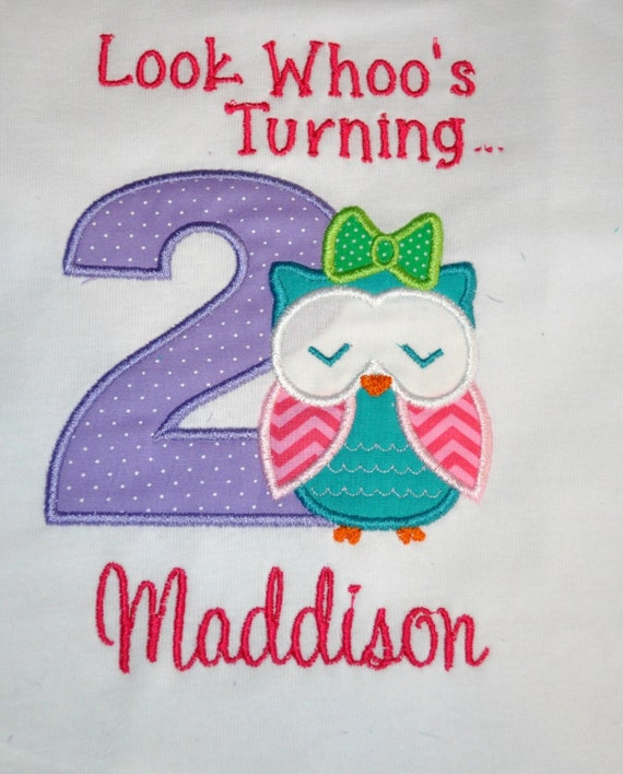 Owl Birthday Girl Outfit Personalized 2nd Birthday Look