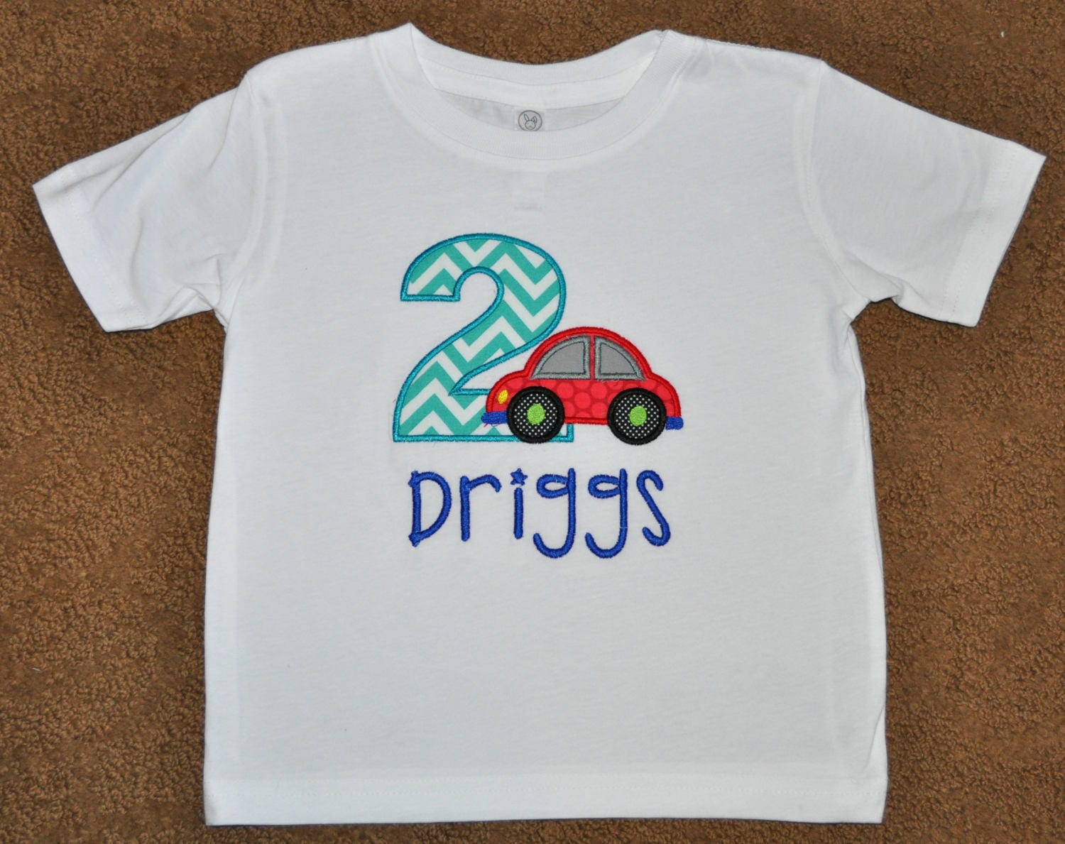 Car Birthday Boy Outfit Personalized 2nd Party