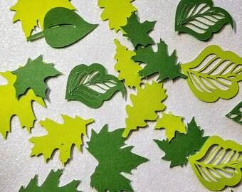 Die cuts - Spring Leaves. 50 die cuts
