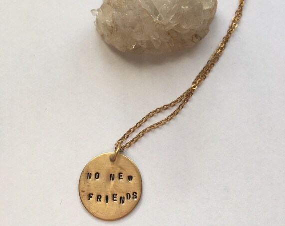 Drake necklace ~ No New Friends