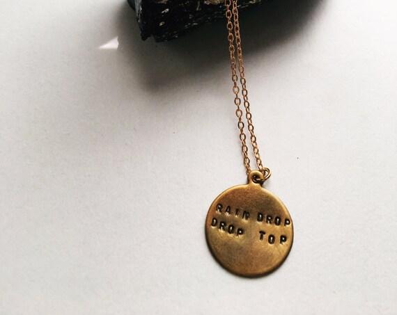 Rain Drop Drop Top MIGOS charm necklace
