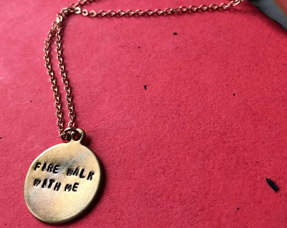 Twin Peaks Fire Walk With Me charm necklace