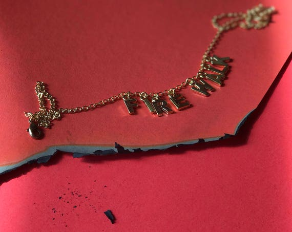 Twin Peaks Fire Walk With Me gold word choker