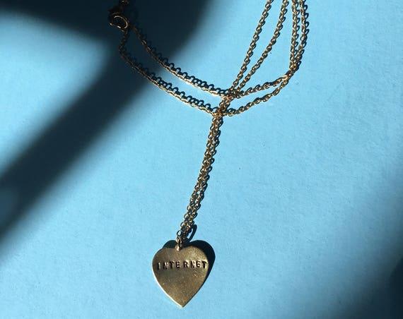 INTERNET Engraved Necklace