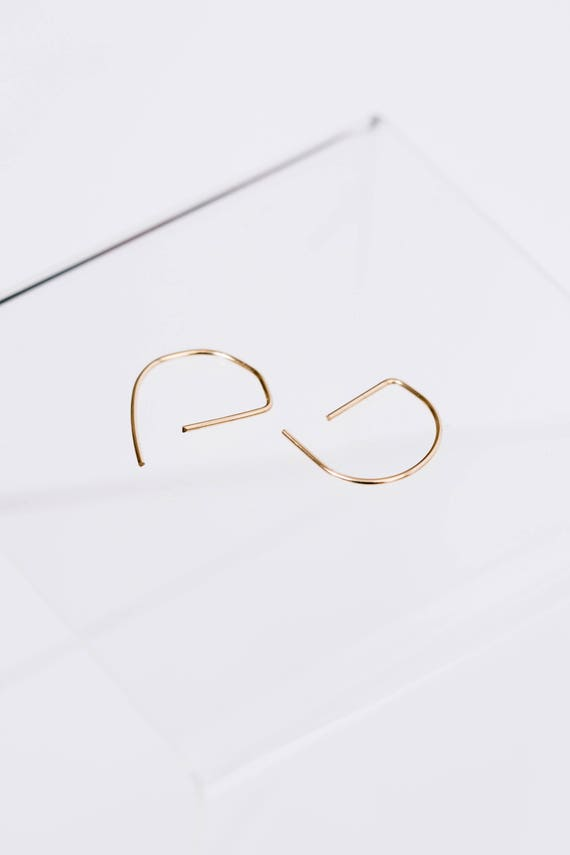 Bullseye gold filled wire hoops