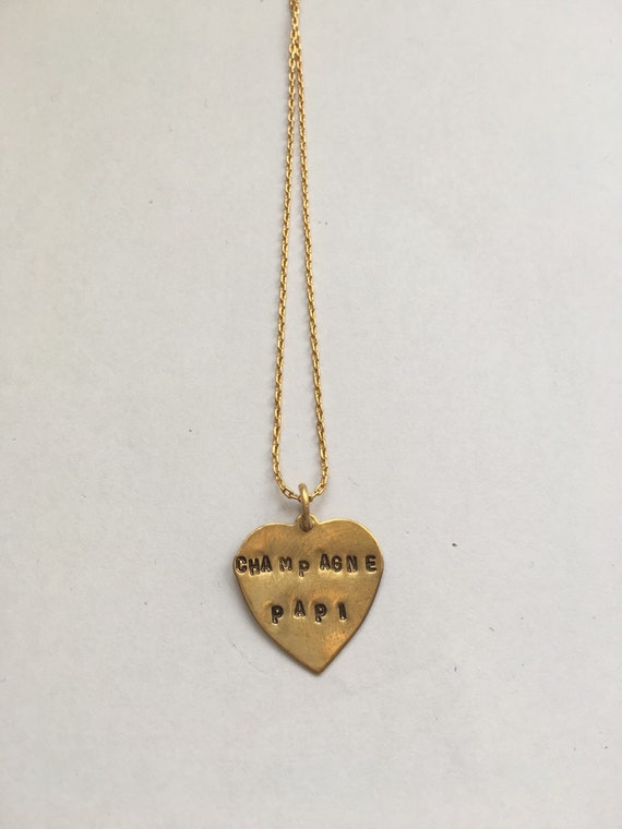 Champagne papi necklace