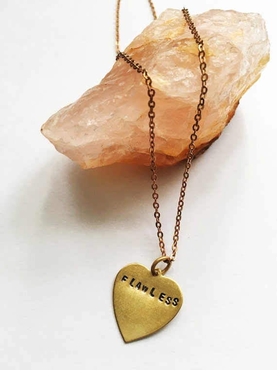 FLAWLESS beyonce engraved charm necklace