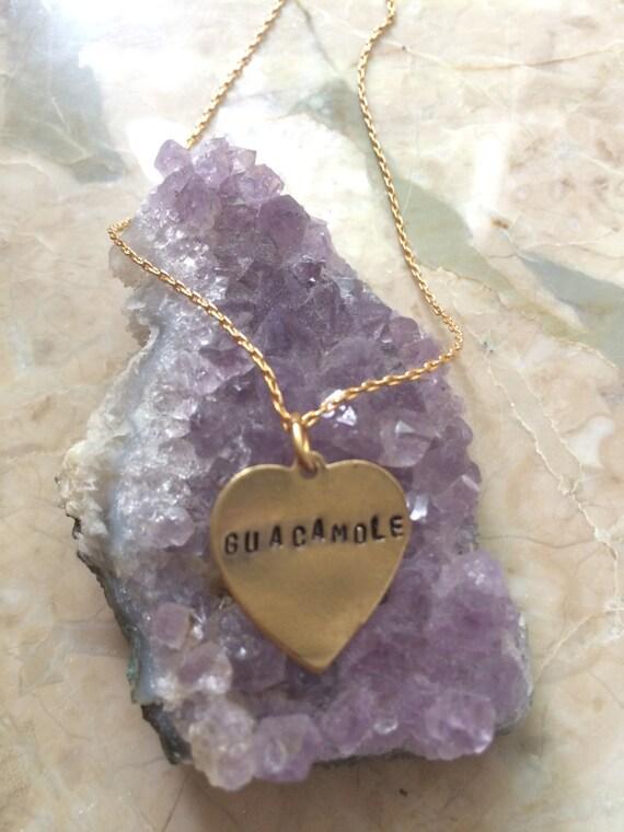 Chipotle Necklace ~ GUACAMOLE