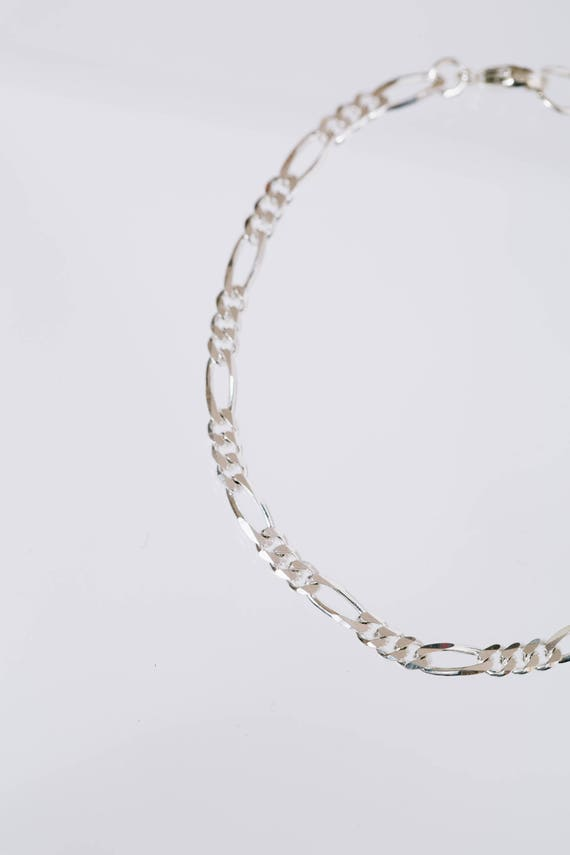 Papi Chain Bracelet - Sterling Silver thick figaro link