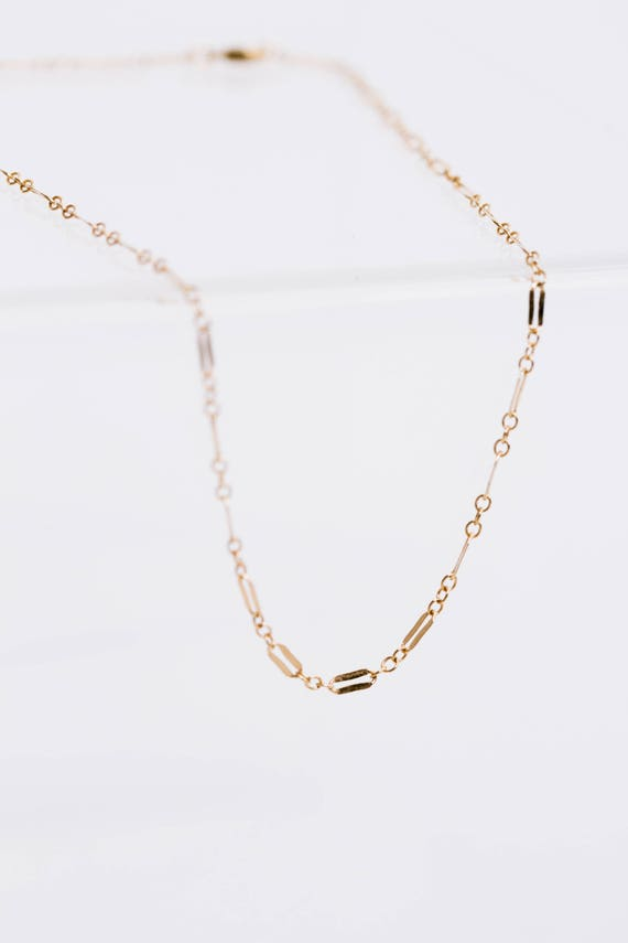 Gold Fill Razor Chain ~ in bracelet, anklet or choker length