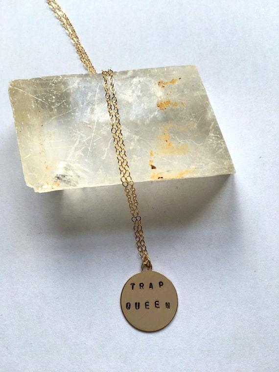 Fetty Wap Trap Queen Gold Fill Necklace