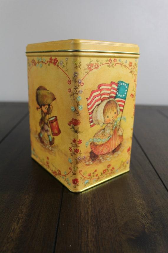 Vintage Hallmark Decorative Tin Mary Hamilton Patriotic Themed Etsy