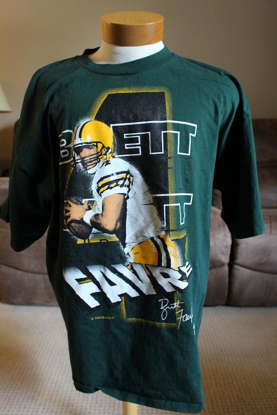 huge selection of 3ebee 55999 1990's Green Bay Packers Quarterback Brett Farve T-Shirt XXL
