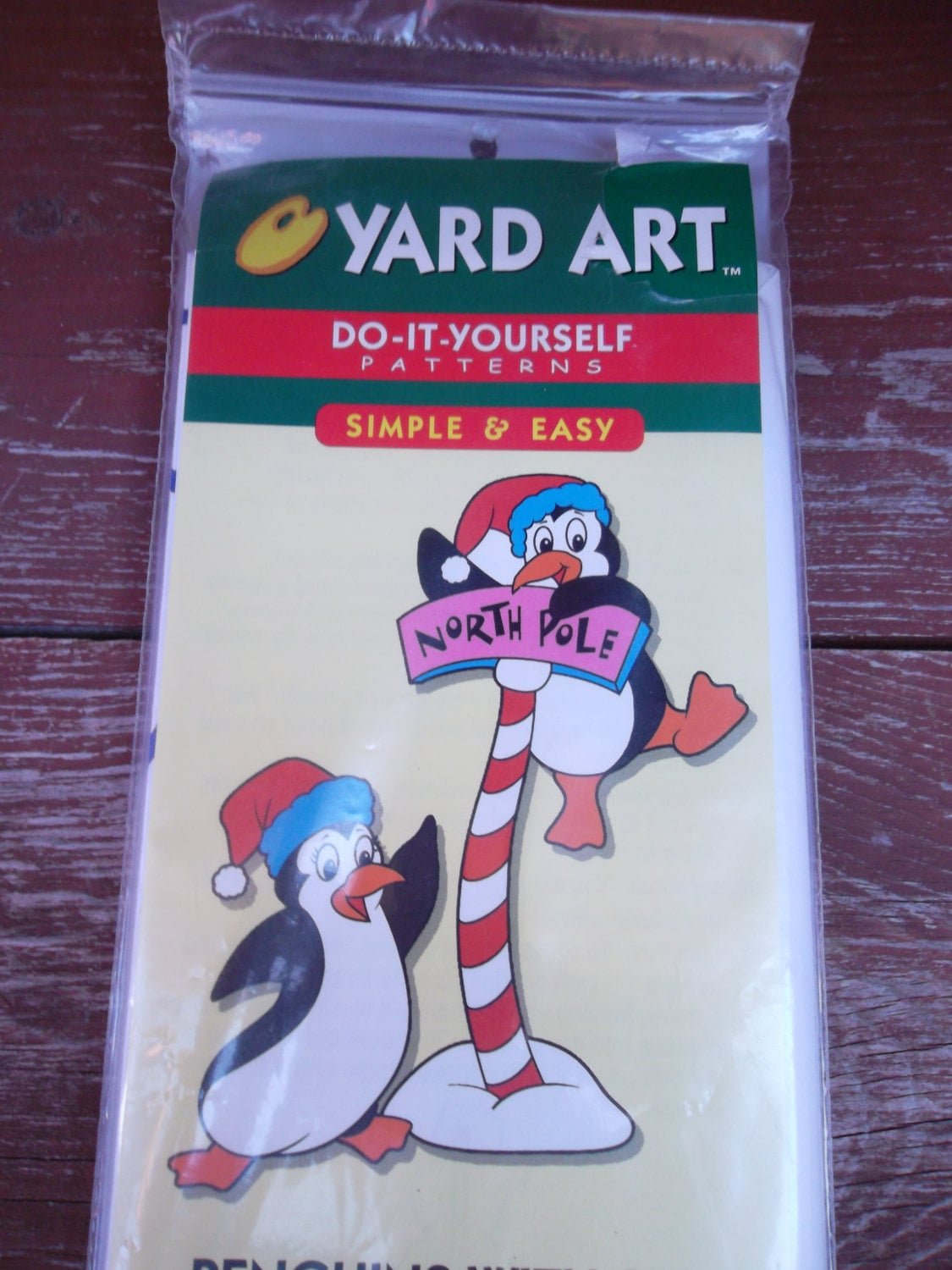Yard art do it yourself patterns penguins with sign outdoor yard 695 solutioingenieria Images