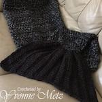 Crocheted Mermaid Tail Blanket - Pre-K, Child, Teen/Adult Sizes