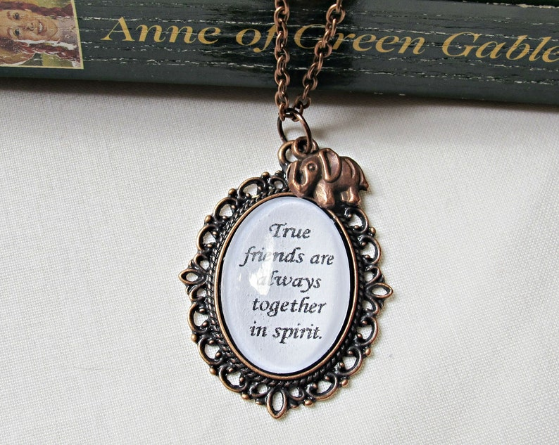 Anne of Green Gables Necklace True Friends Are Always Together image 0