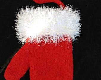 Felted Mitten Christmas Stocking