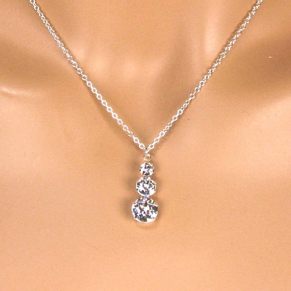 Clear Marquise Shaped Cubic Zirconia Stone Abstract Pendant Necklace #925 Sterling Silver #Azaggi N0331S/_white